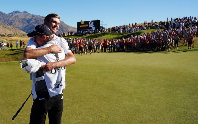 Zach Murray of Australia, winner of the 100th New Zealand Open. (Credit: Michael Thomas / www.photosport.nz)