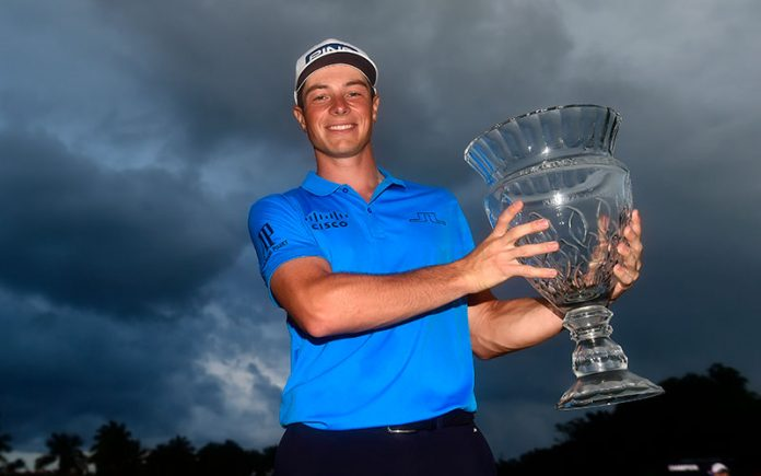 Rookie Viktor Hovland wins maiden title in Puerto Rico