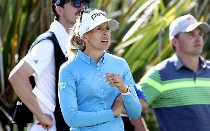 Pernilla Lindberg at NZ Open 2020 (Getty)