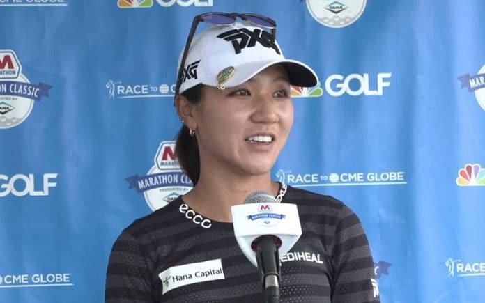 Lydia Ko after her round of 64 (LPGA)