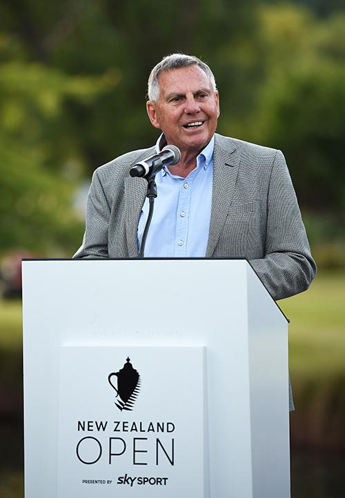 John Hart - New Zealand Open Tournament Chairman. Credit: Photosport - www.photosport.nz