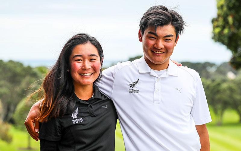 Momoka & Kazuma Kobori at the Taranaki Open (NZ Golf)
