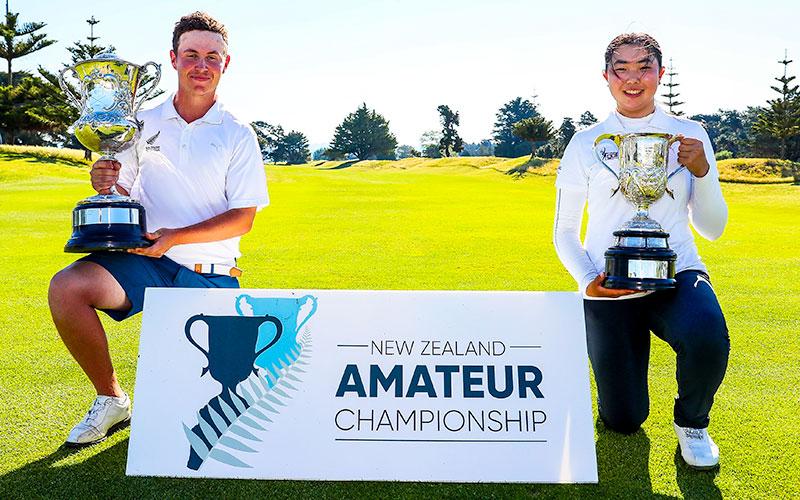 James Hydes and Fionz Xu, NZ Amaeur Champions (NZ Golf)