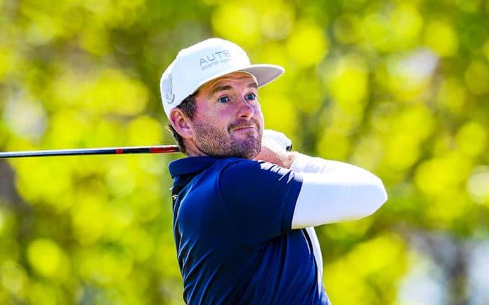 Josh Geary during Round 3 of DVS Pegasus Open. (NZ Golf)