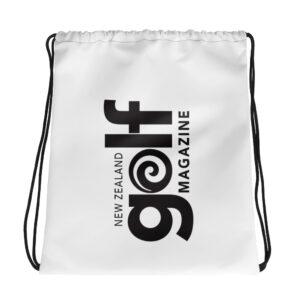 NZ Golf Magazine Drawstring bag