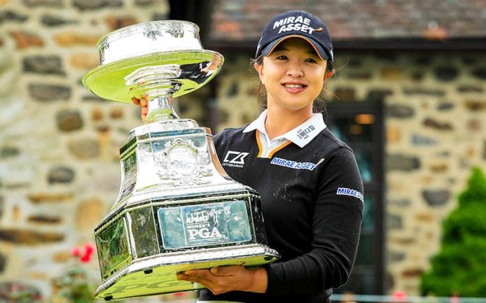Sei Young Kim with the KPMG US PGA Championship trophy (LPGA/USPGA)
