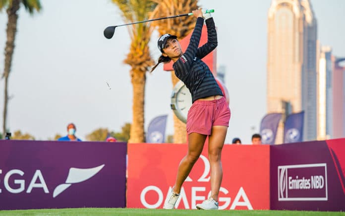 Lydia Ko during the third round of the Omega Dubai Moonlight Classic (Photo: Tristan Jones / LET)