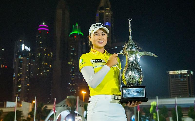 Omega Dubai Moonlight Classic winner Minjee Lee (Photo: Tristan Jones / LET)