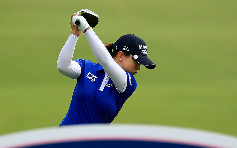 Sei Young Kim hits her tee shot on the second hole during round 3 of the Pelican Women's Championship in Belleair, Florida. (LPGA)
