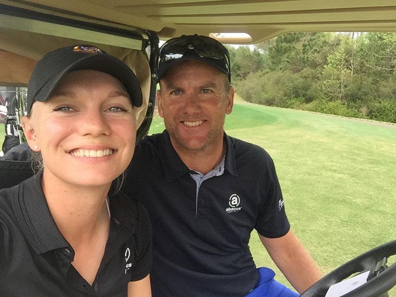 Madelene Sagstrom with her coach Robert Karlsson (Supplied)