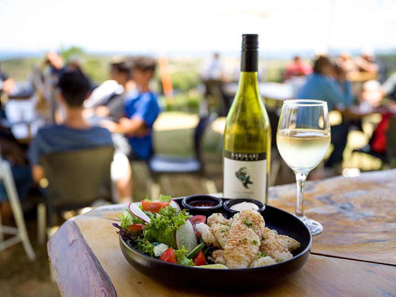 Food and wine at Karikari Estate (Supplied)