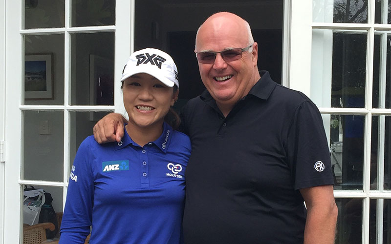 Michael Glading with NZ Number One golfer Lydia Ko (Supplied)