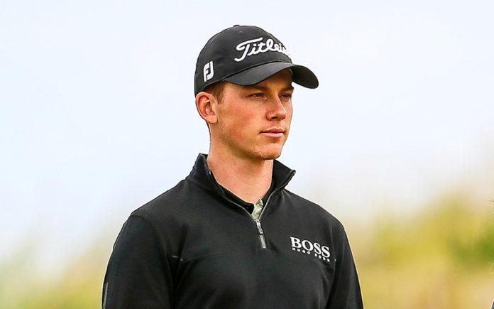 Daniel Hillier on Day three of the Autex Muriwai Open (Golf NZ)