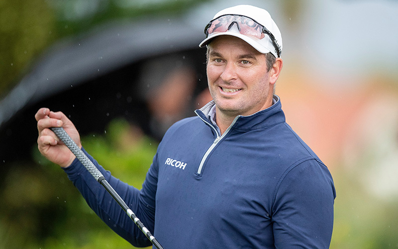 Ryan Fox on Day three of the Autex Muriwai Open (Golf NZ)