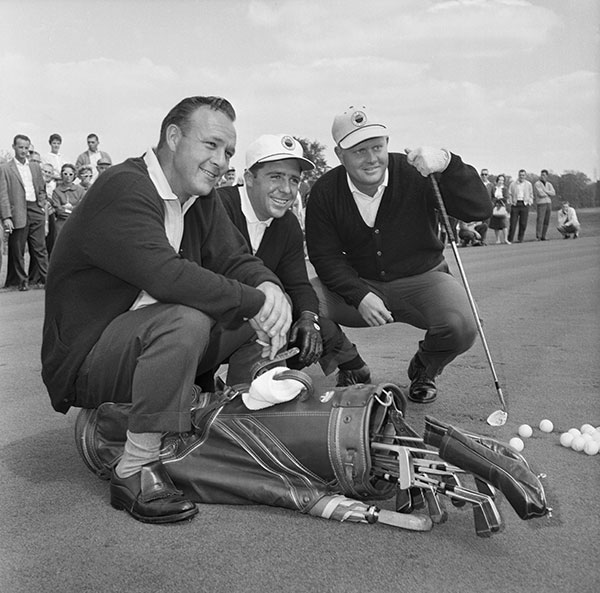THE BIG THREE, ROLEX TESTIMONEES ARNOLD PALMER, JACK NICKLAUS AND GARY PLAYER