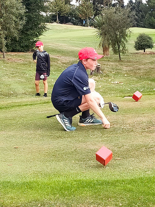 Andy Bowman on the course at Arrowtown (Supplied)