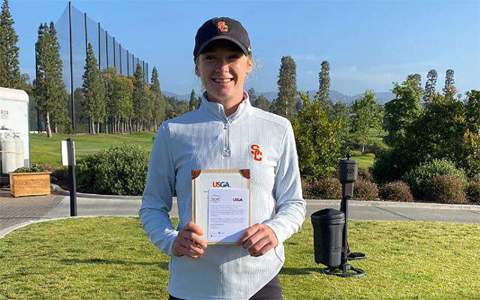 Amelia Garvey qualifies for the 2021 US Women's Open (Supplied)