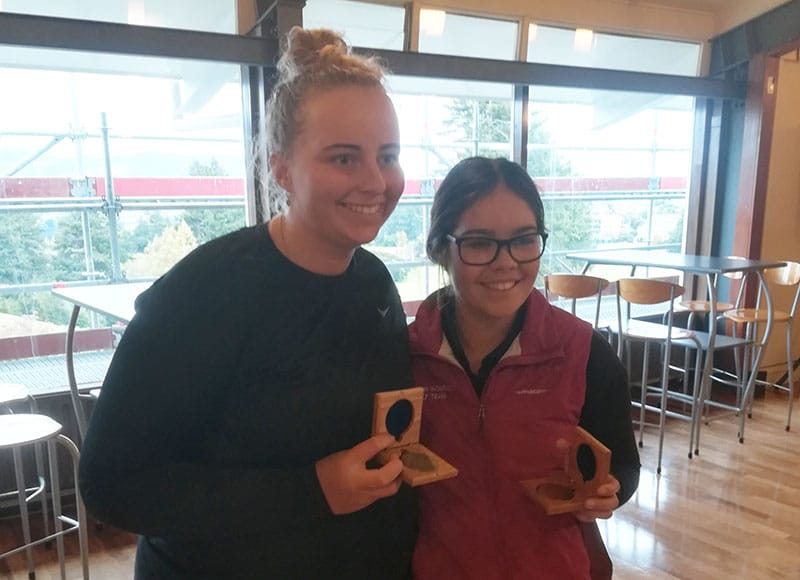South Island Age Groups: Maddie May and Lizzie Neale (Photo: Neville Idour)