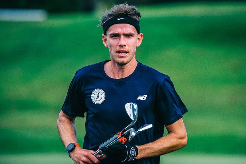 World's Fastest Golfer Jamie Reid (Photo: Mike Hadnett, Golf NZ)