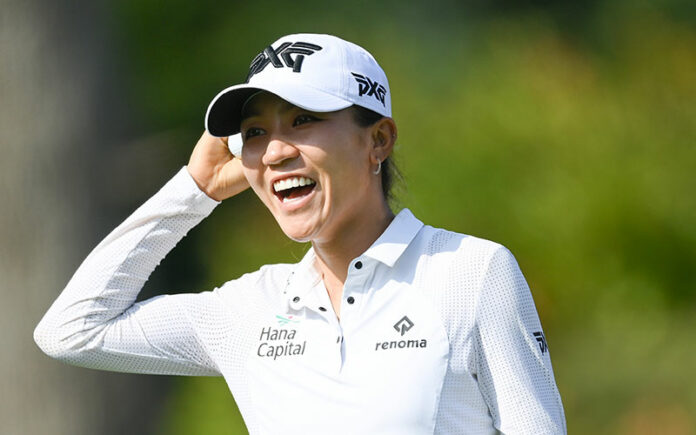 Lydia Ko in outright third at the The Amundi Evian Championship in Evian-les-Bains, France. (Photo by Stuart Franklin/Getty Images)