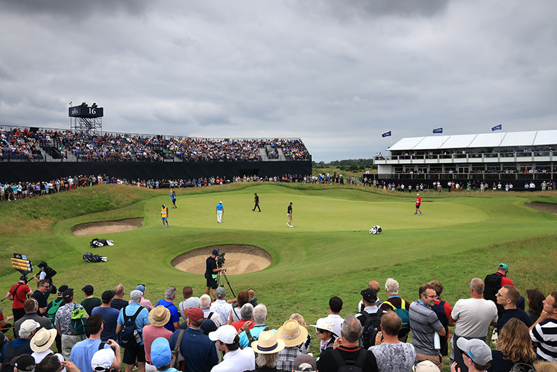 A general view of the 16th hole during Day One of The 149th Open at Royal St George's Golf Club on July 15, 2021 in Sandwich, England. (Photo by David Cannon/R&A/R&A via Getty Images)