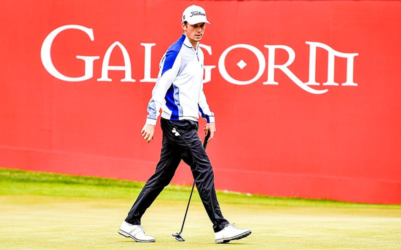 Daniel Hillier at the ISPS HANDA World Invitational presented by Modest! Golf Management Day Two (European Tour)