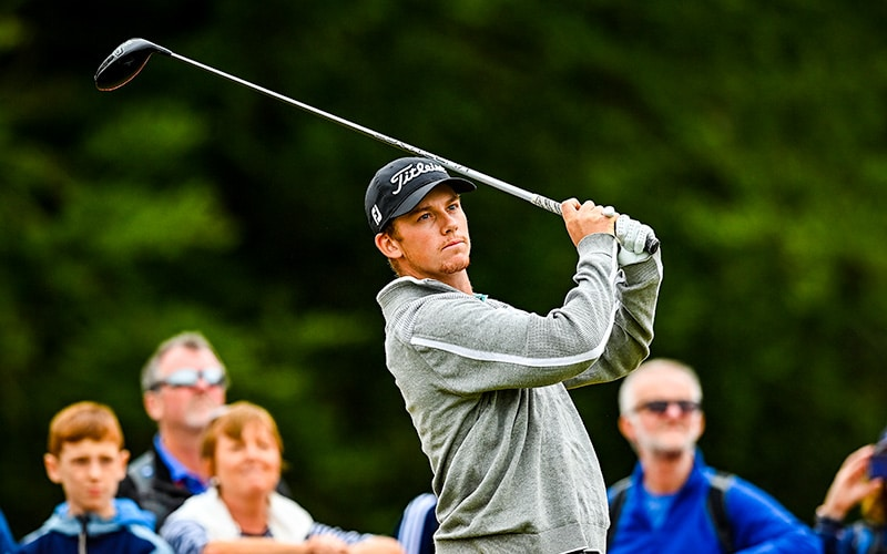 Daniel Hillier tees off on the 1st hole during Day Three of The ISPS HANDA World Invitational at Galgorm Spa & Golf Resort in Ballymena, United Kingdom. (Photo by Charles McQuillan/Getty Images - Supplied by European Tour)