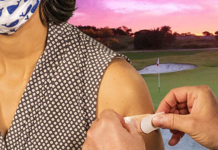 no vaccine no golf
